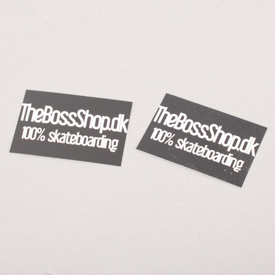 The Boss Logo Stickers - Black