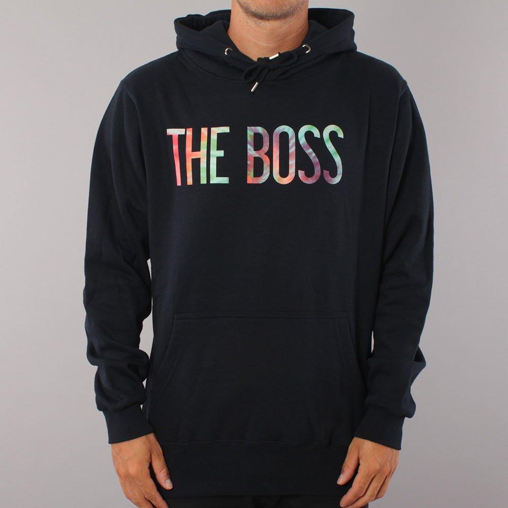 The Boss Tie Dye Logo Hood - Navy