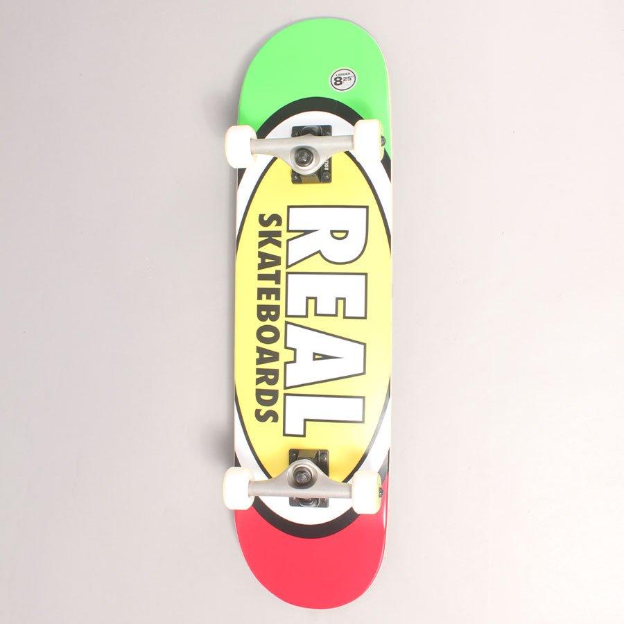 "Real Oval Rasta Complete Skateboard - 8,25"""