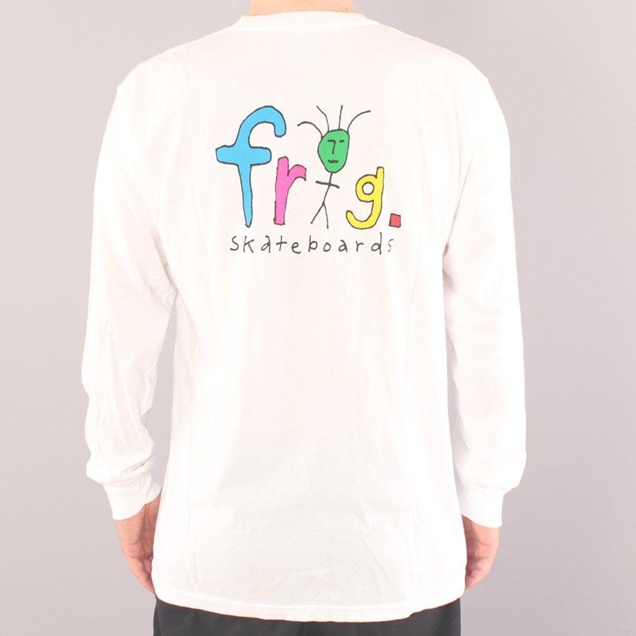 Frog Skateboards Frog Man Logo LS T-shirt - White