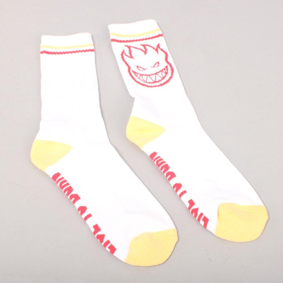 Spitfire Bighead Socks - White/Yellow/Red