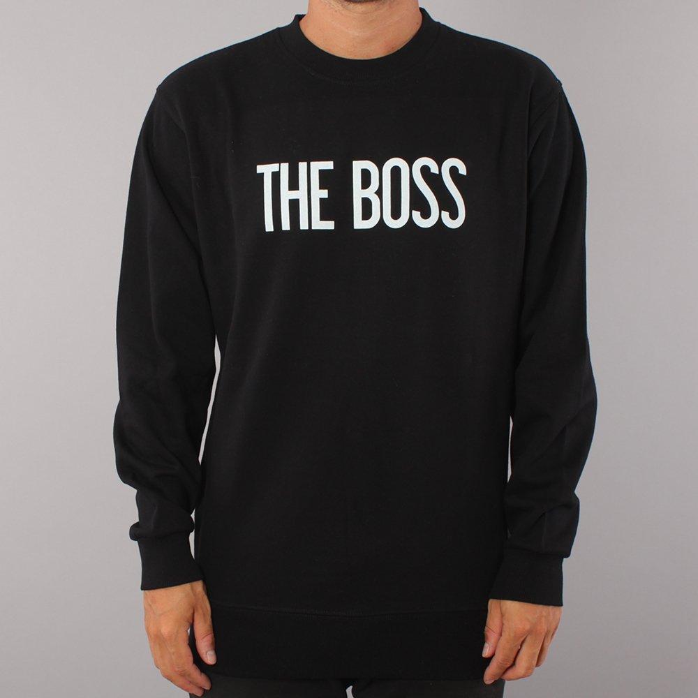 The Boss Logo Crewneck - Black