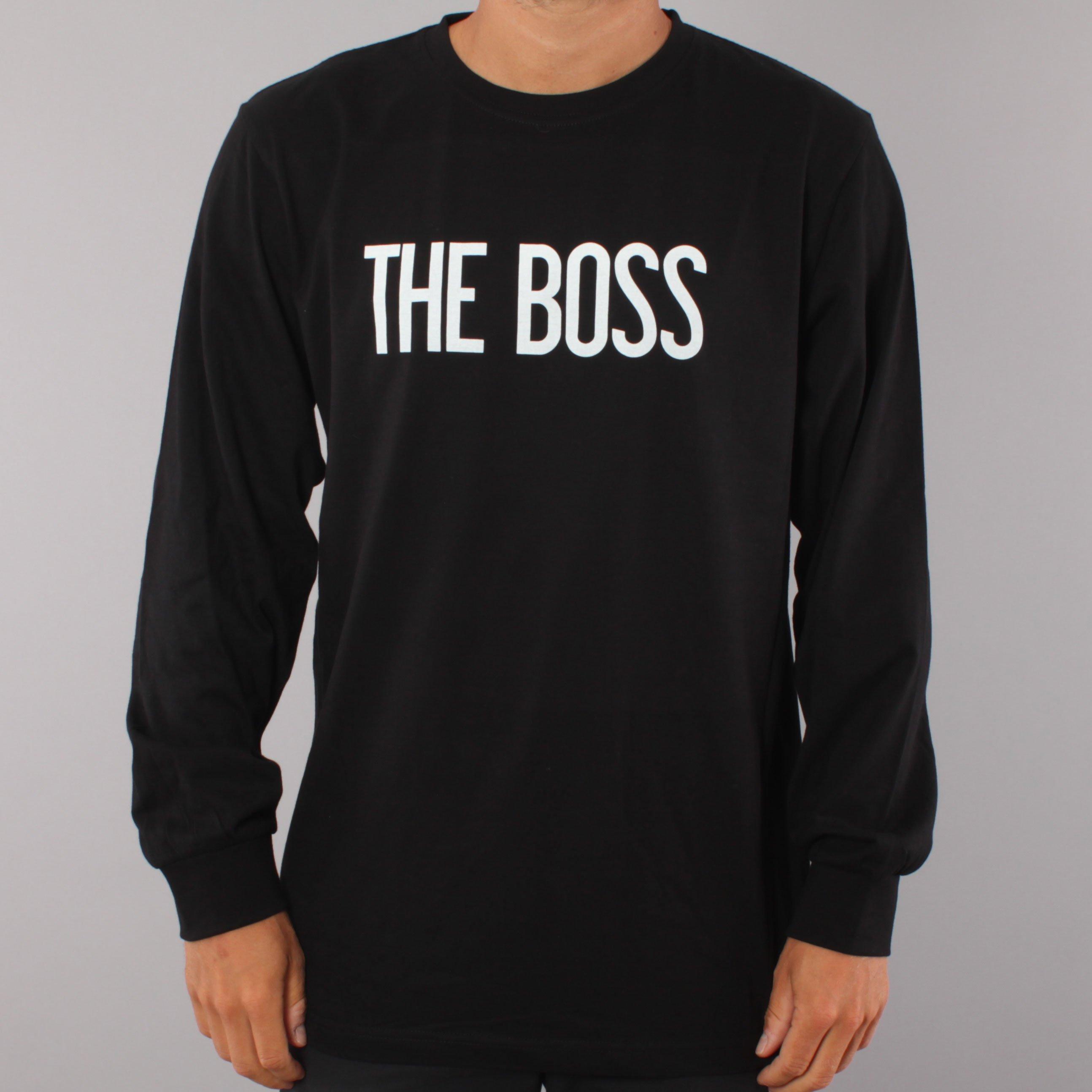 The Boss Logo LS T-shirt - Black