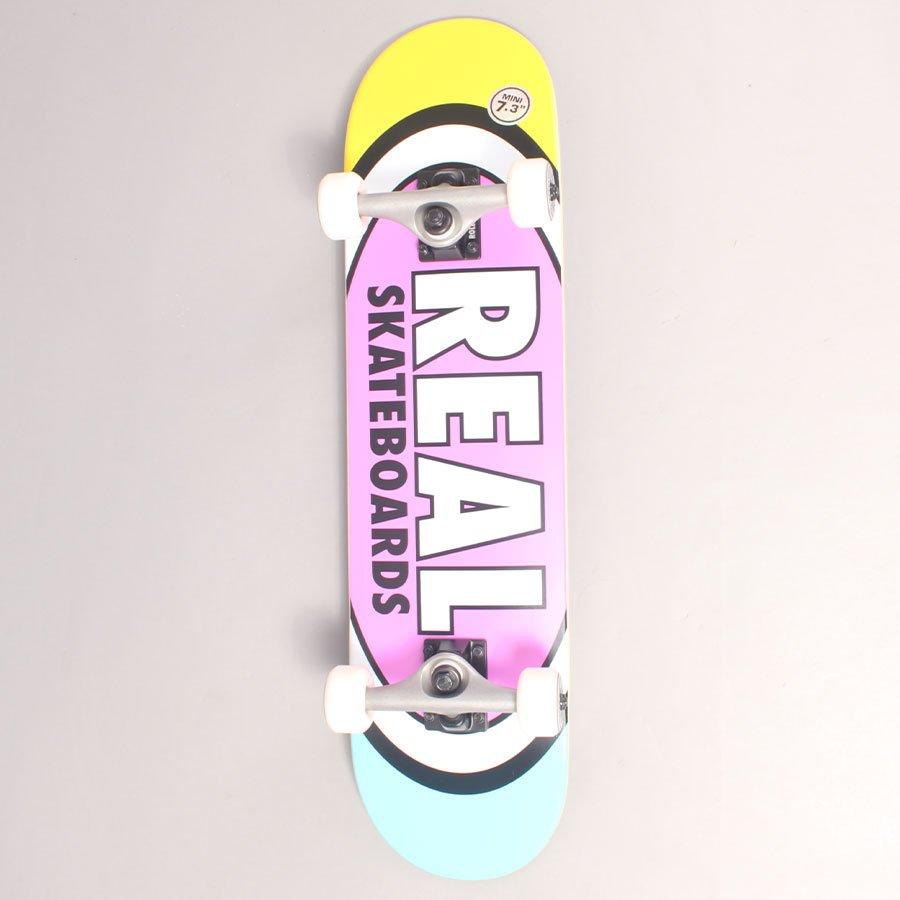 "Real Oval Multi Mini Complete Skateboard - 7,3"""