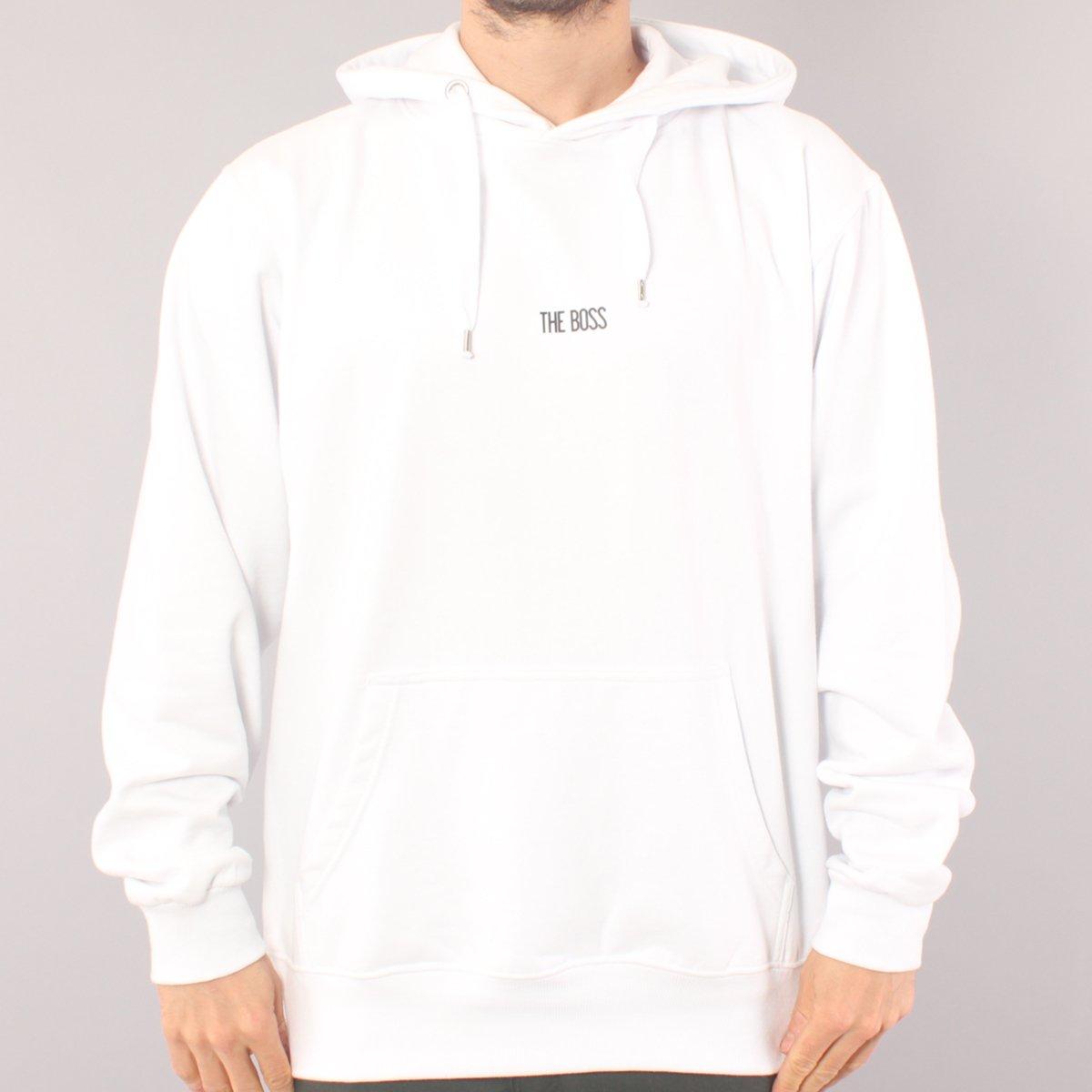 The Boss Mini Logo Hood - White