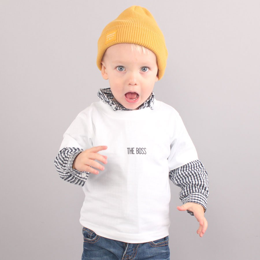 The Boss Mini Logo Youth T-shirt - White