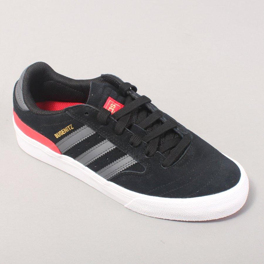 Adidas Skateboarding Busenitz Vulc II - Black/Grey/Red