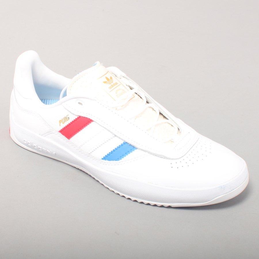 Adidas Skateboarding Puig - White/Blue/Red