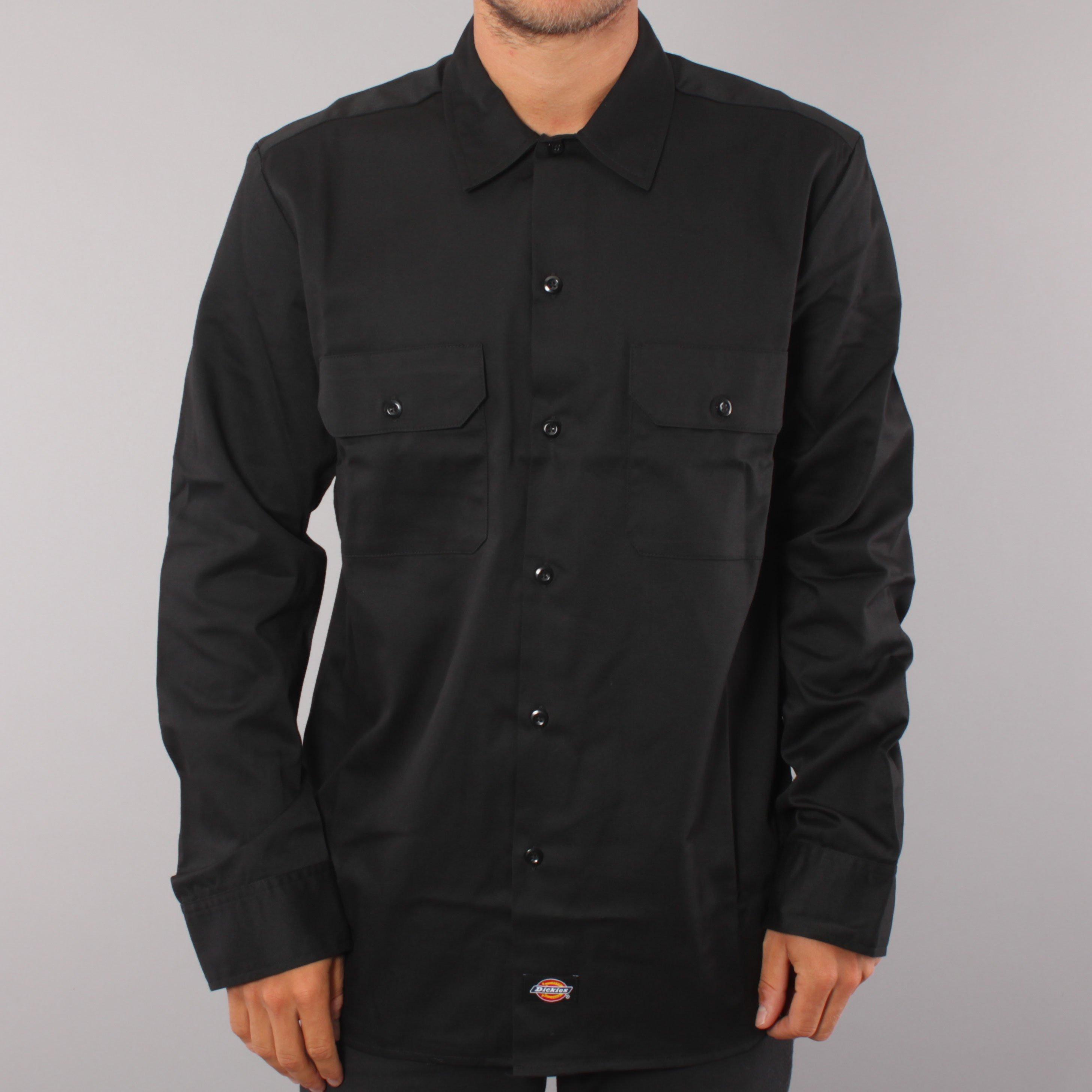 Dickies LS Work Slim Shirt - Black