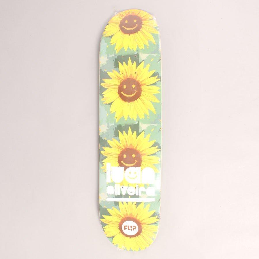 "Flip Oliviera Flower Power Skateboard Deck - 8,00"""