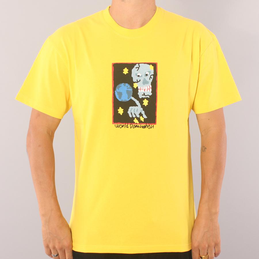 Polar Skate Co World Domination T-shirt - Lemon