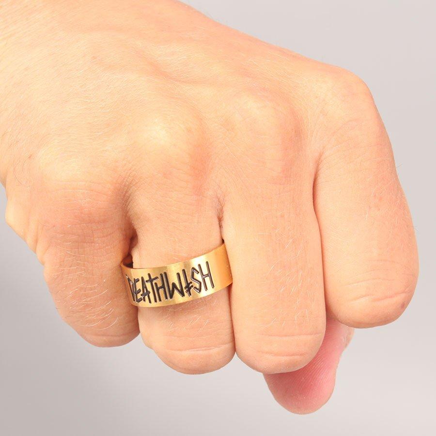 Deathwish Deathspray Gold Ring