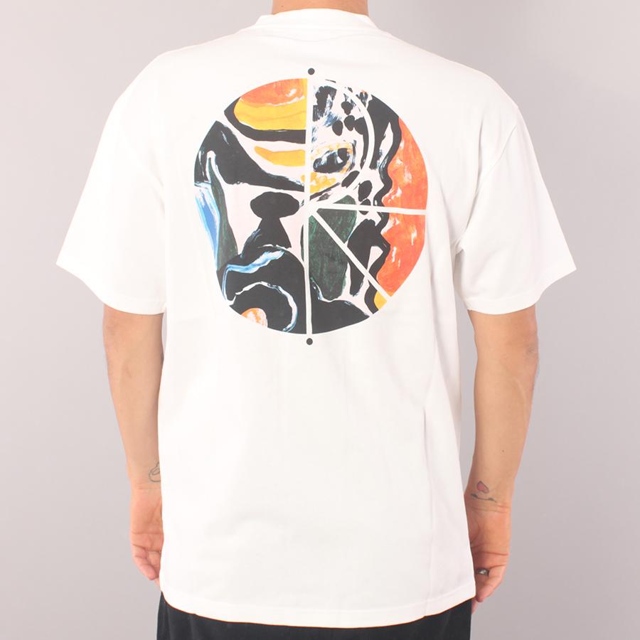 Polar Skate Co Facescape Fill logo T-shirt - White