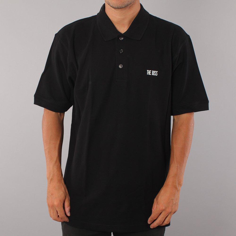 The Boss Mini Logo Polo T-shirt - Black