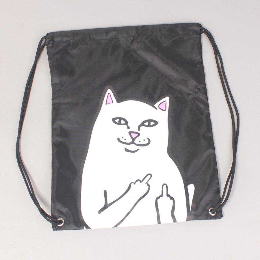 Rip N Dip Lord Nermal Drawstring Bag - Black