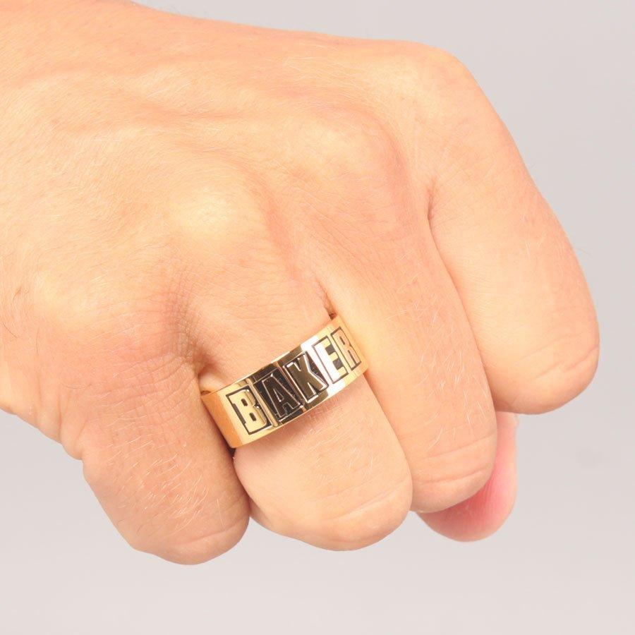Baker Brand Logo Gold Ring