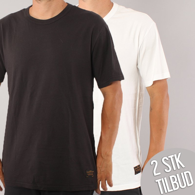 Levi's Skateboarding 2 Pack T-shirts - Black/White