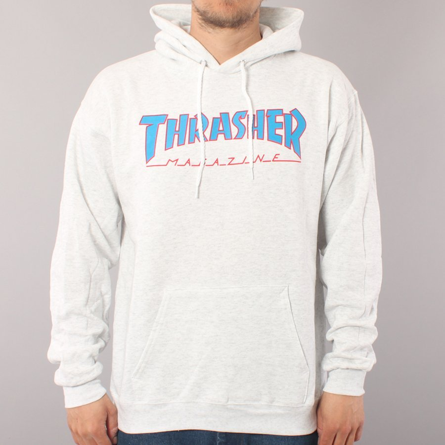 Thrasher Skate Mag Hoodie Outlined - Ash Grey