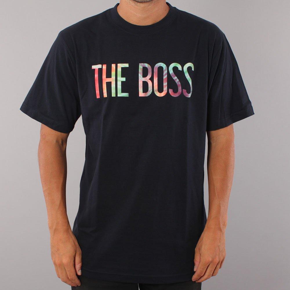 The Boss Tie Dye Logo T-shirt - Navy