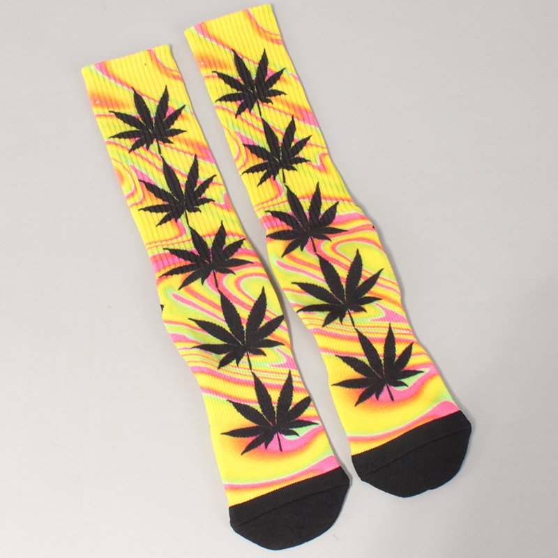 Huf Good Trip Plantlife Crew Socks - Blazing Yellow