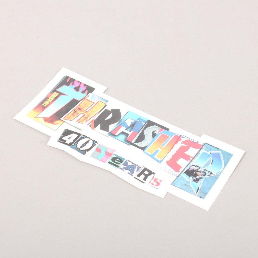 Thrasher 40 Years Sticker - 15 cm