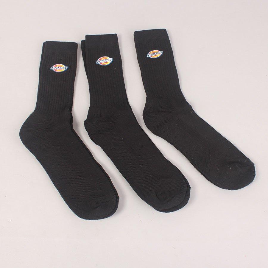 Dickies 3 Pack Valley Grove Socks - Black