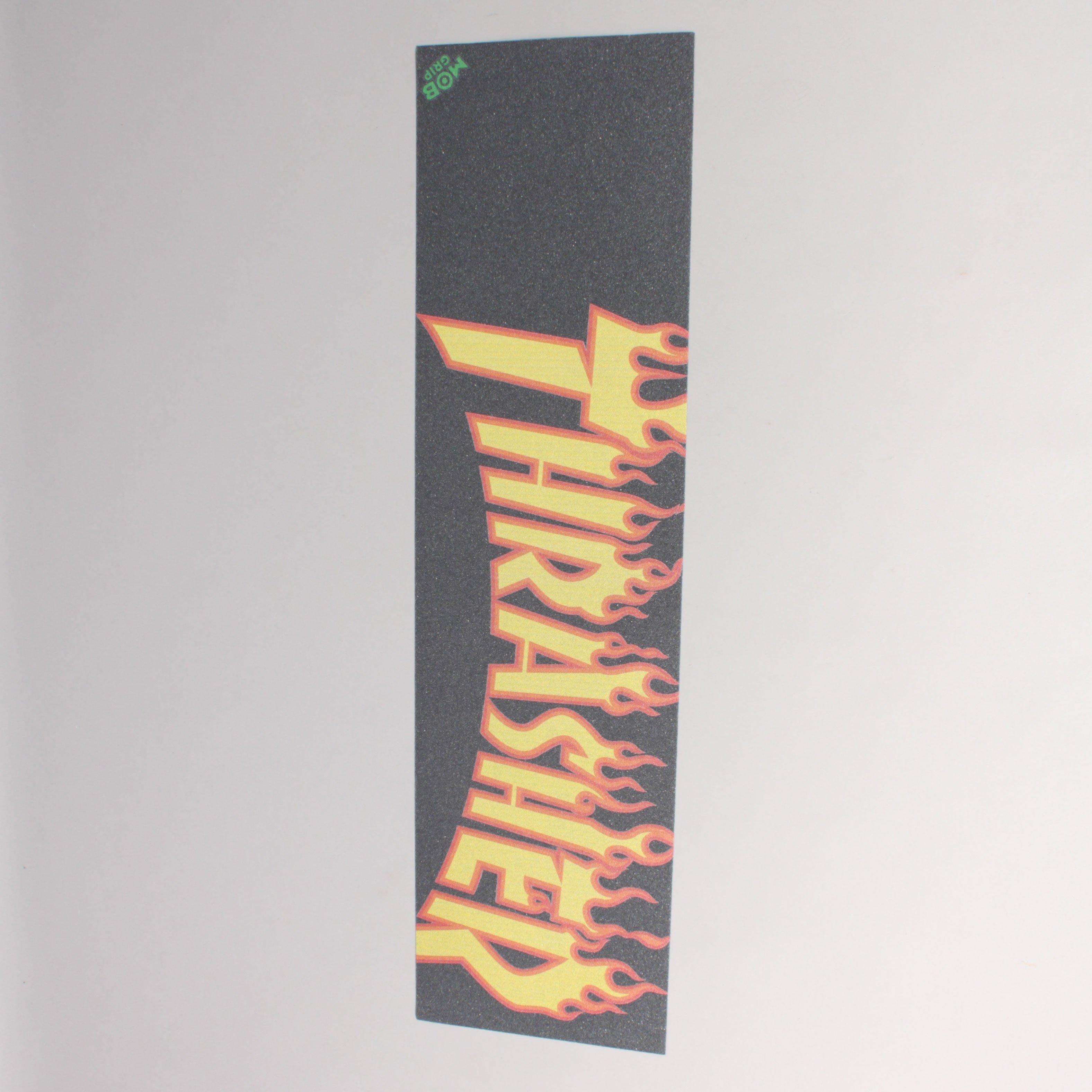 MOB Thrasher Flame Logo Griptape - Black