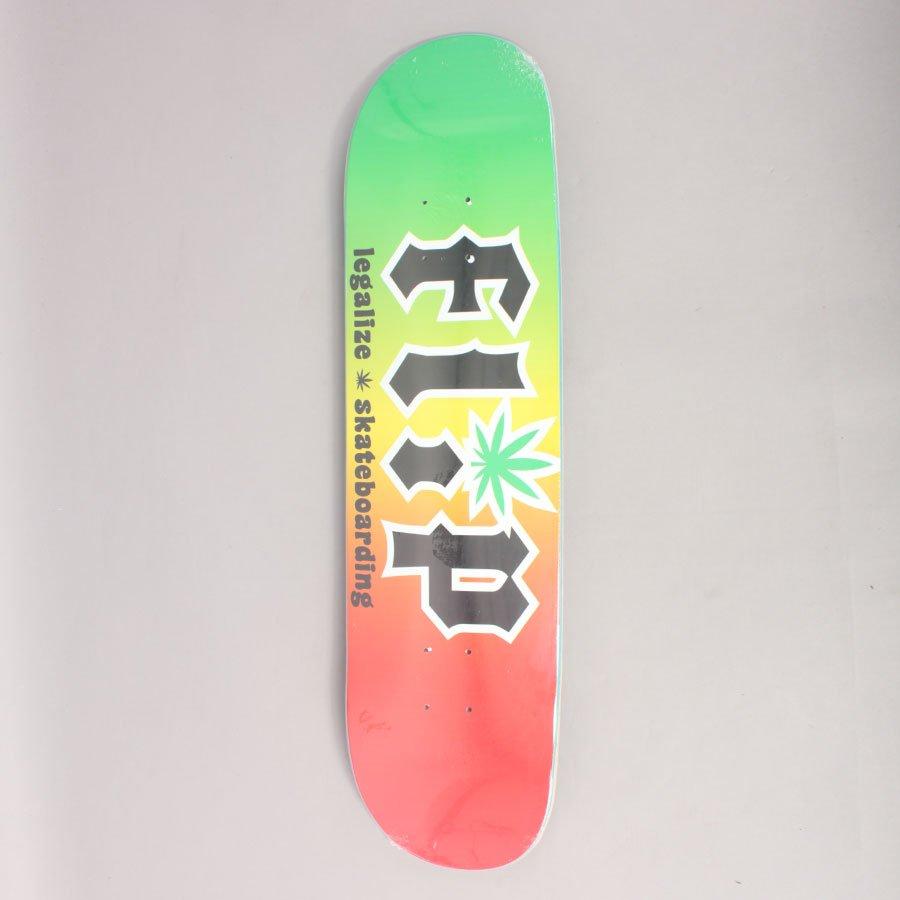 "Flip Team HKD Legalize Rasta Skateboard Deck - 8,25"""