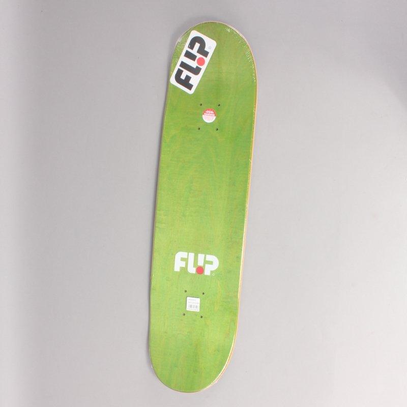 "Flip Toms Friends Stained Black Skateboard Deck - 8,13"""