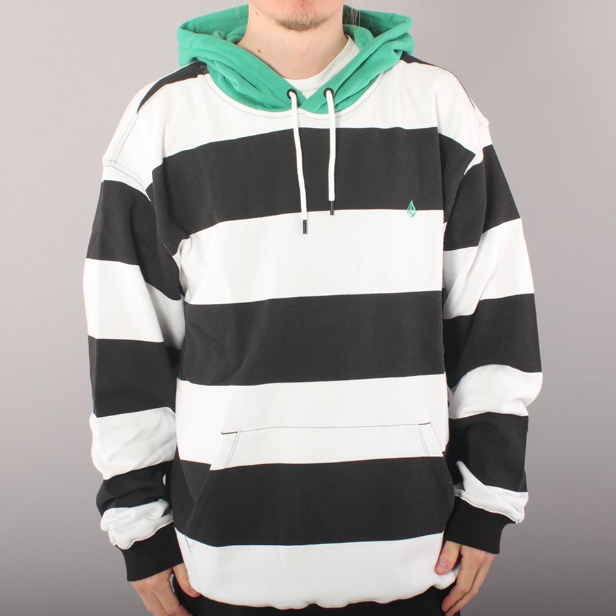 Volcom Cannione Pullover Hoodie - White/Black/Green