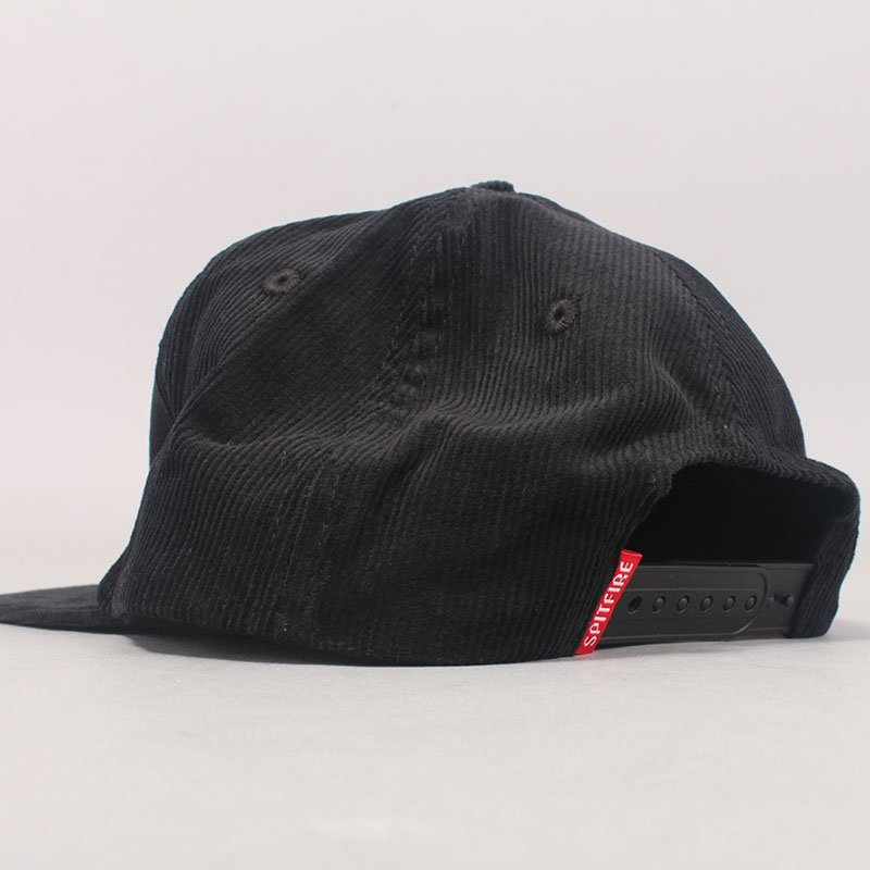 Spitfire Bighead Cords Cap - Black/Red