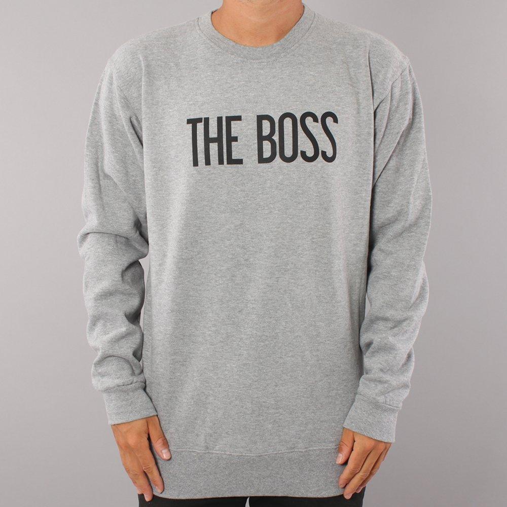The Boss Logo Crewneck - Grey