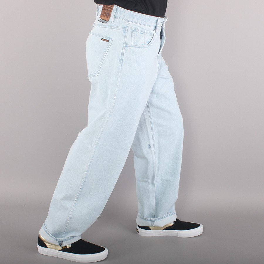 "Volcom Billow Denim 19"" Baggy Pants - Light Blue"