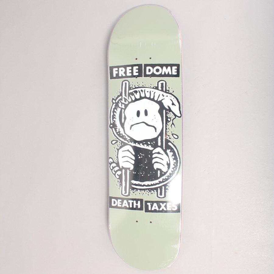 "Free Dome Death & Taxes Skateboard Deck - 8,875"""