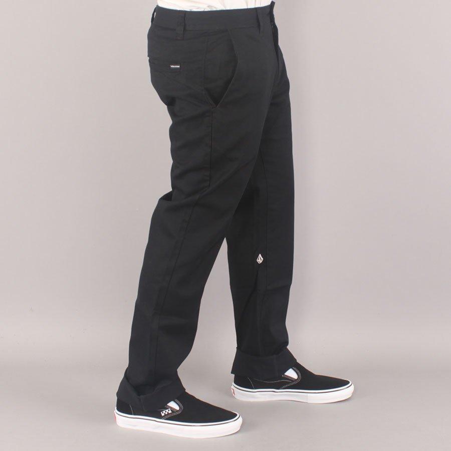 Volcom Frickin Slim Straight Youth Chino Pants - Black