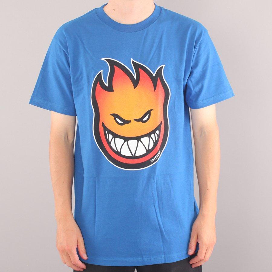 Spitfire Bighead Fill T-shirt - Royal Blue/Gold