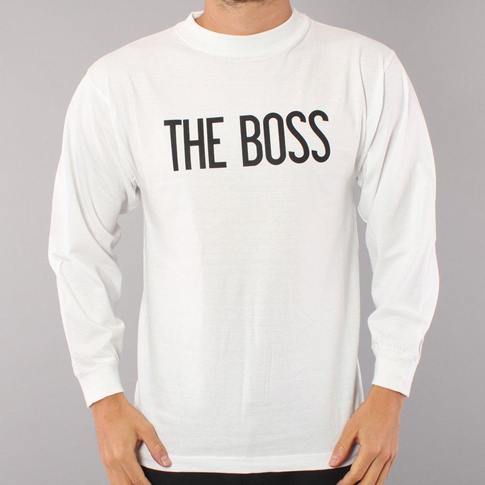The Boss Logo LS T-shirt - White