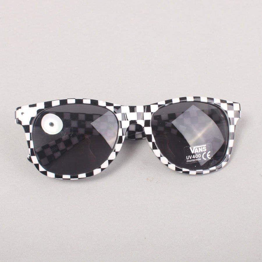 Vans Spicoli Sunglasses - Black/White/Checker