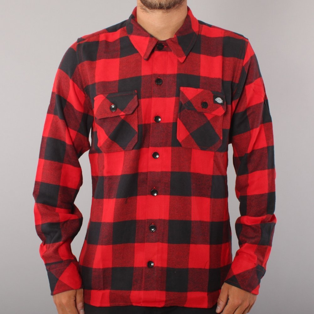Dickies Sacramento LS Woven - Red