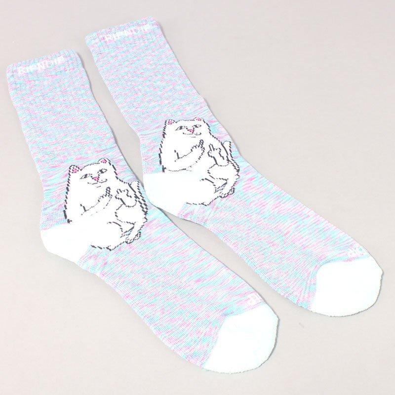 Rip N Dip Lord Nermal Socks - Mint Speckle