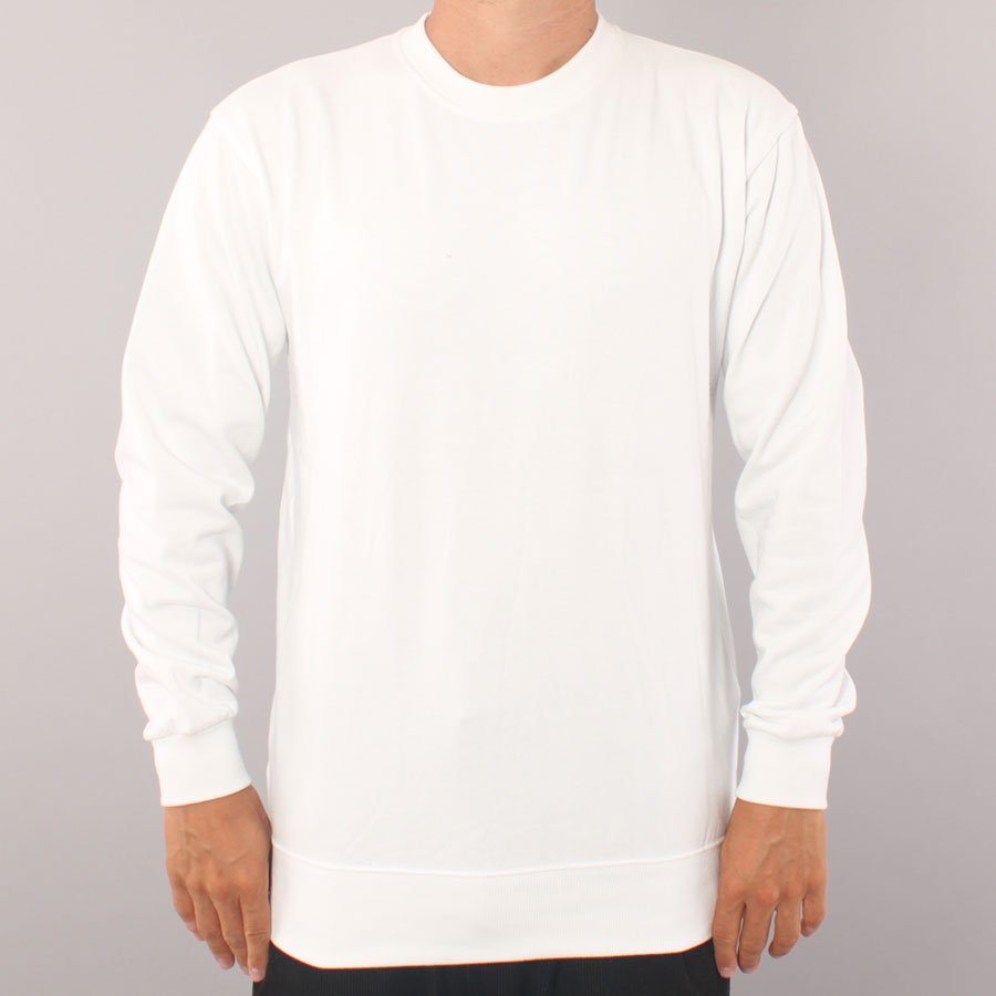 The Boss No Logo Crewneck Sweater - White