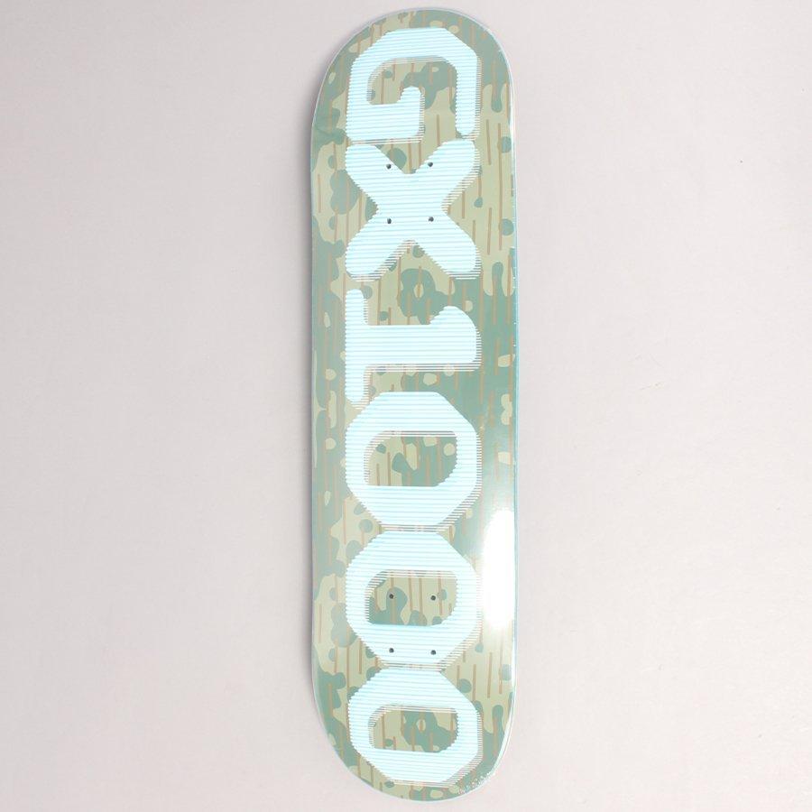 "GX1000 OG Rain Camo Skateboard Deck - 8,0"""