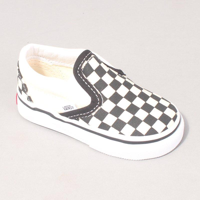 Vans Classic Slip On Kids - Black/White/Checkerboard