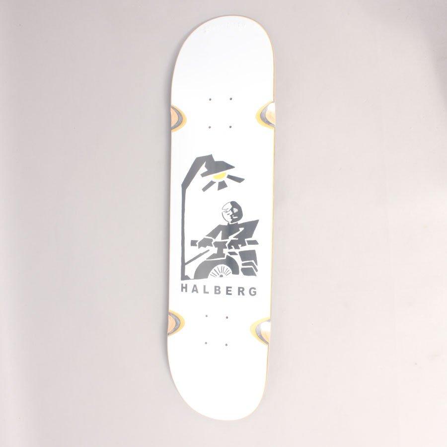 "Polar Hjalte Halberg Insomnia White Skateboard Deck - 8,5"""