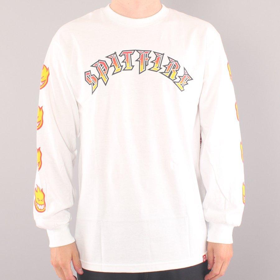 Spitfire Old E LS T-shirt - White