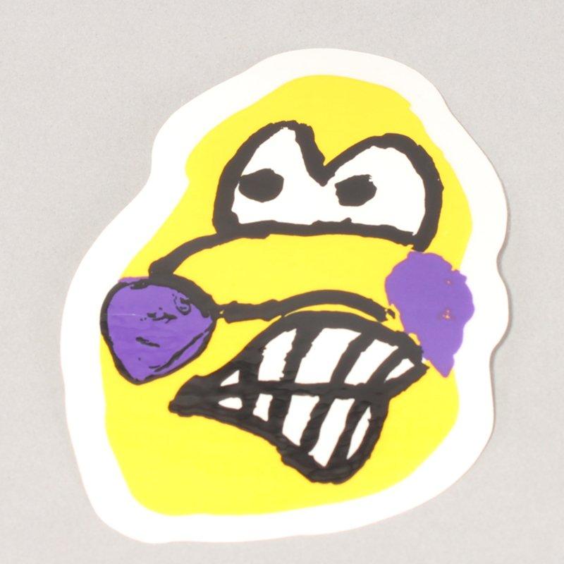 Polar Dane Face Sticker Medium - Yellow