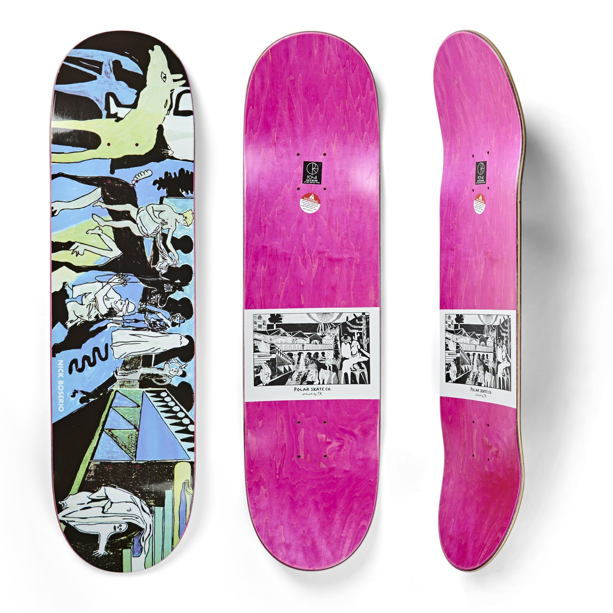 """Polar Nick Boserio The Riders Skateboard Deck - 8,625"""""""