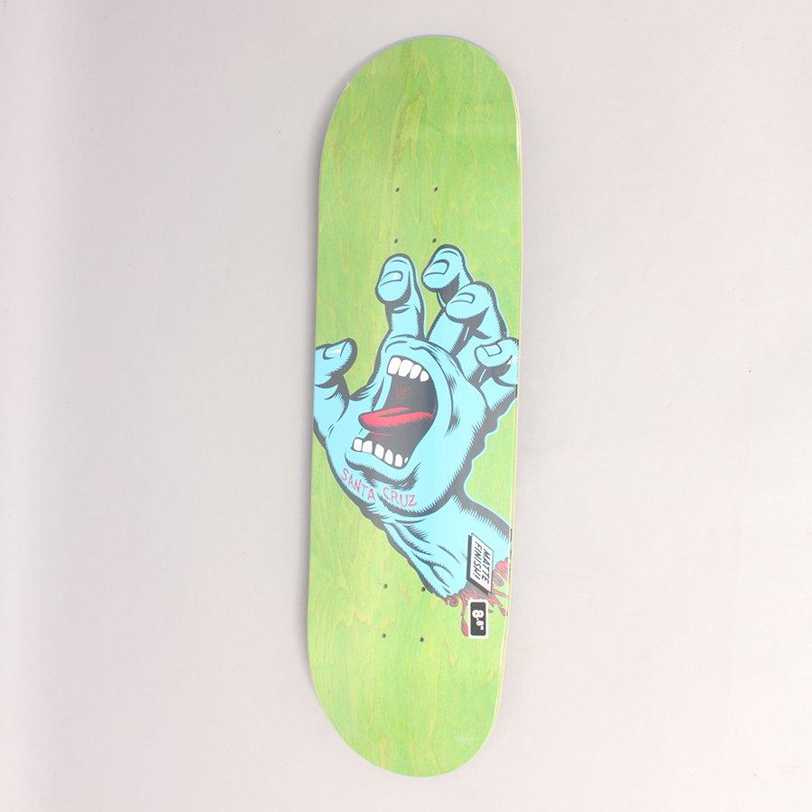 "Santa Cruz Screaming Hand Green Skateboard Deck - 8,8"""
