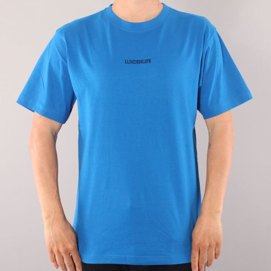 The Boss Lundenlife Embroidered T-shirt - Blue