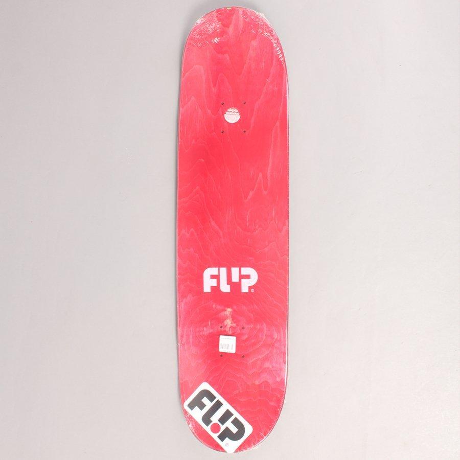 "Flip Saari Splat Grey Skateboard Deck - 8,25"""